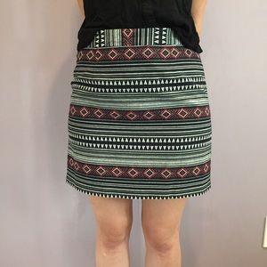 Printed business skirt